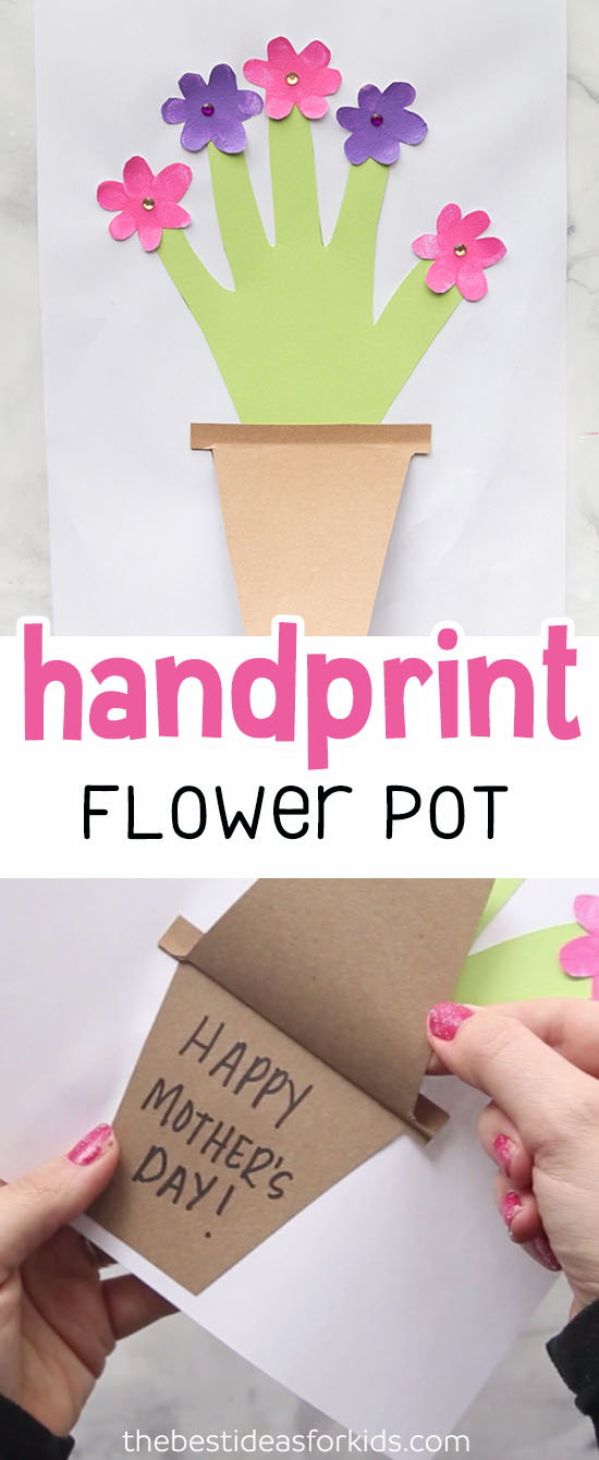 Mother's Day Handprint Flower Pot
