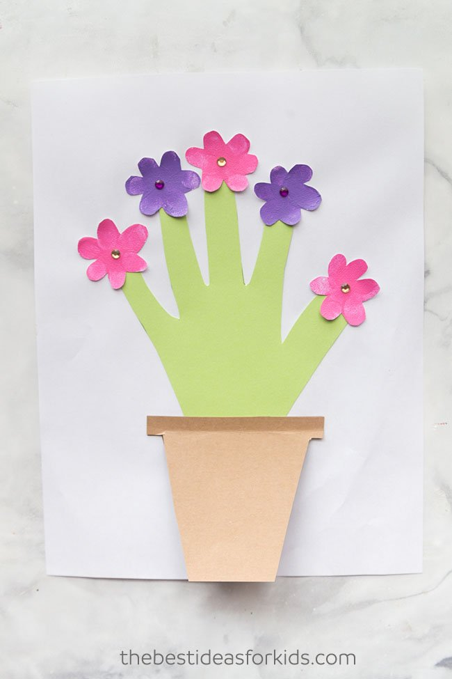Paper Flower Pot Craft Mother S Day