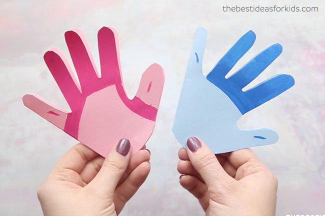 Paint Handprint Trolls Craft