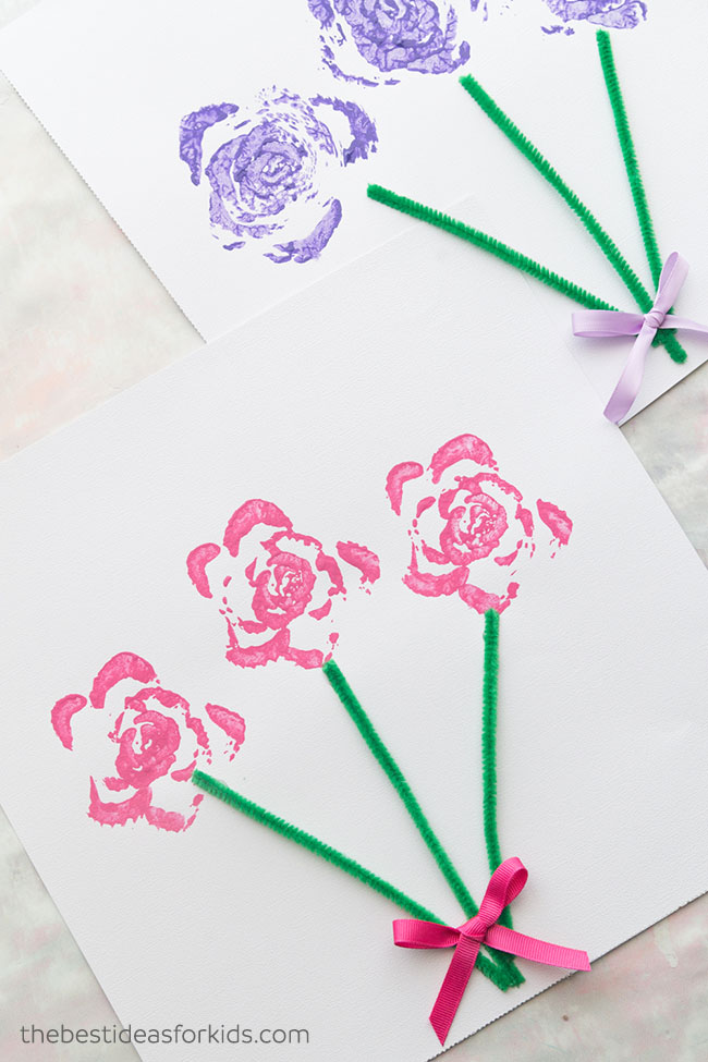 Celery Stamped Flower Bouquet