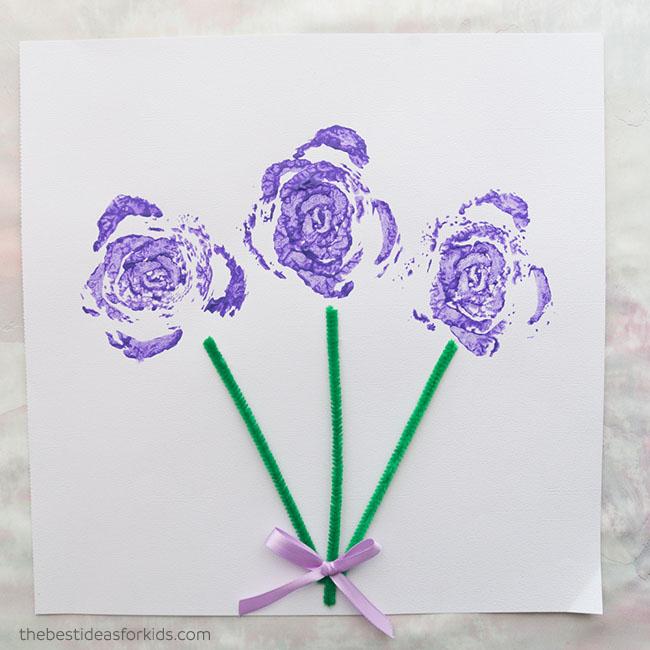 Celery Stamped Flowers