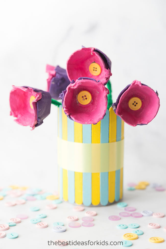Egg carton flowers the best ideas for kids Egg carton flowers ideas