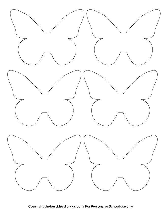 Butterfly template the best ideas for kids for Butterfly template free