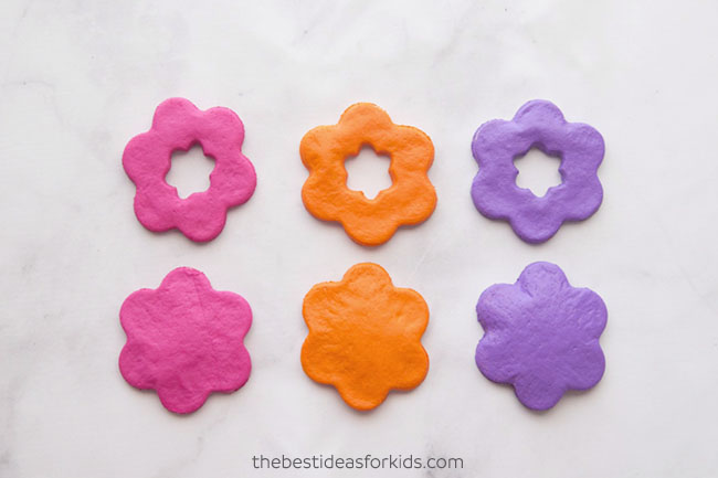 Paint Salt Dough Flowers