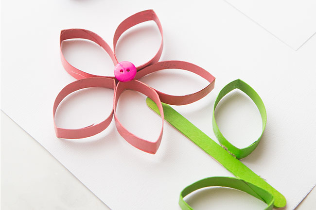 Paper Roll Flowers The Best Ideas For Kids