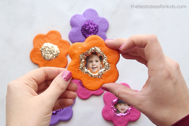Salt Dough Flower Magnet
