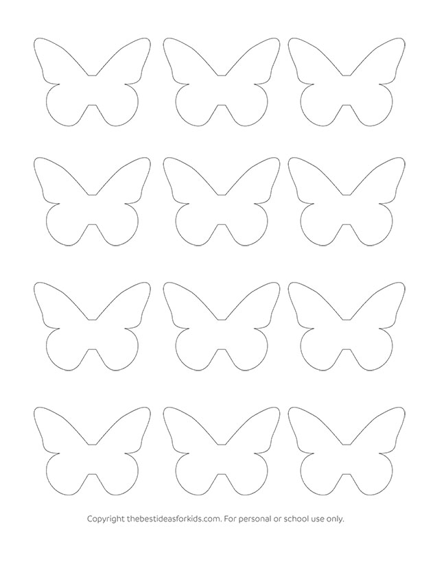 photo relating to Printable Butterfly Template named Butterfly Template - The Most straightforward Strategies for Children