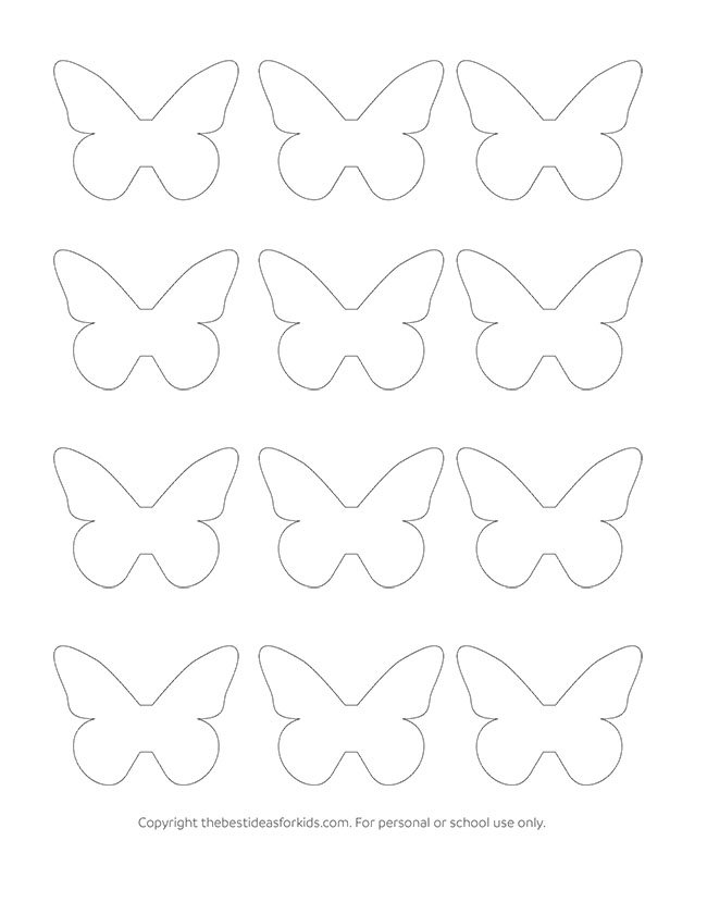 Butterfly Template  The Best Ideas For Kids