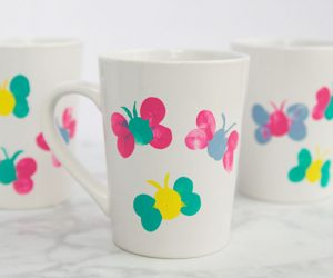 Thumbprint Butterfly Mug