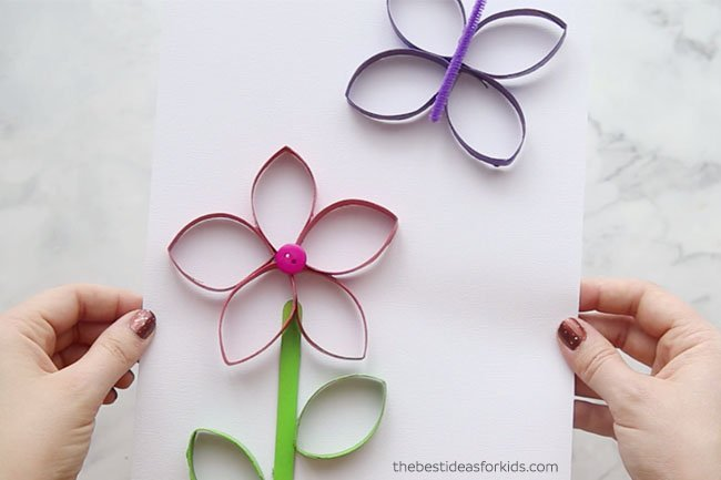 Paper roll flowers the best ideas for kids toilet paper roll butterfly craft mightylinksfo Choice Image