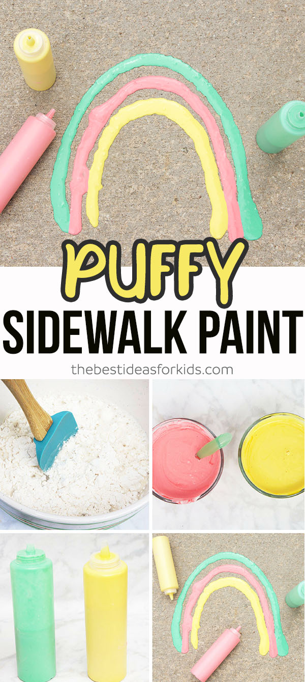 Puffy Sidewalk Paint - The Best Ideas for Kids