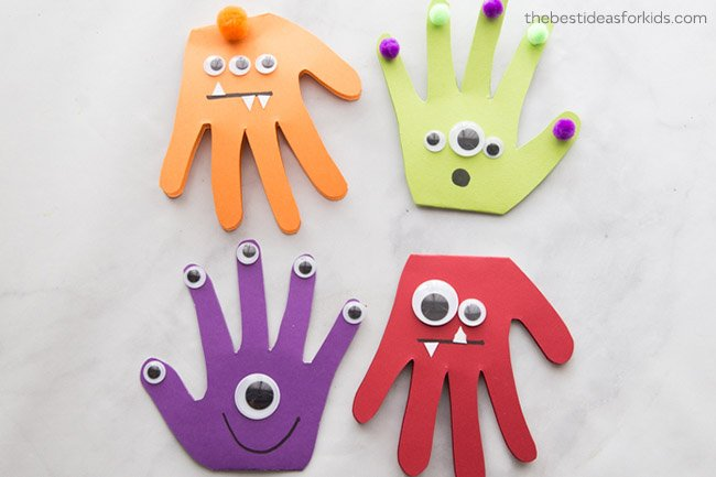 Monster Handprint Cards