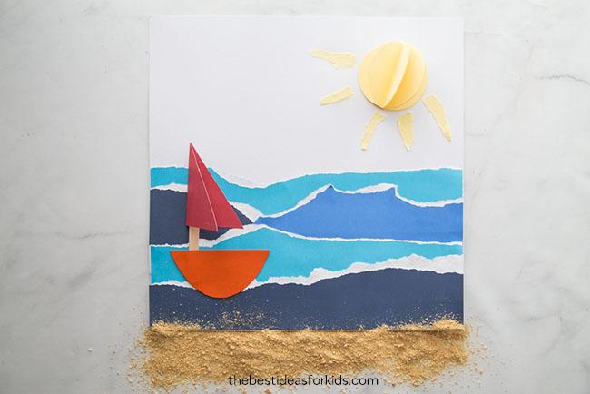 Sailboat Beach Craft for Kids