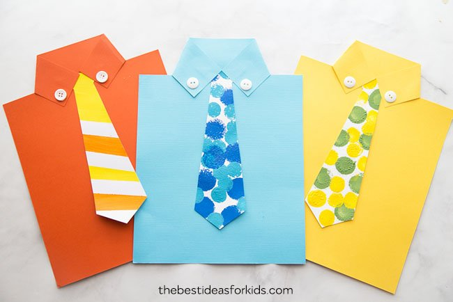 Shirt tie card template