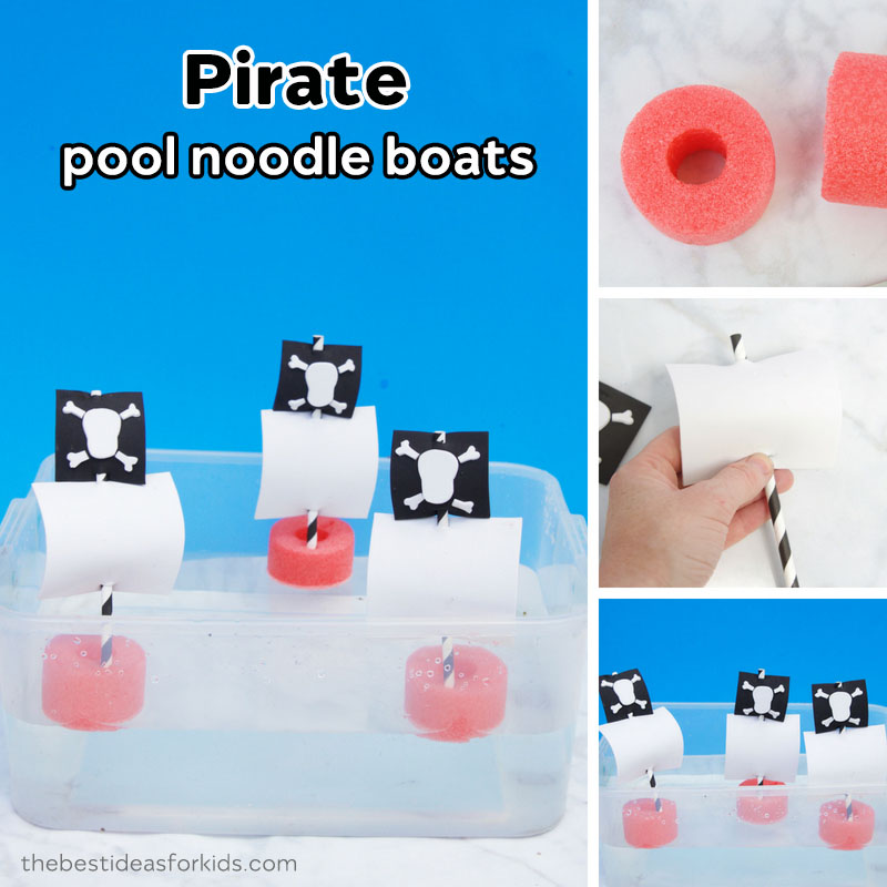 Summer Pool Noodle Boats Craft