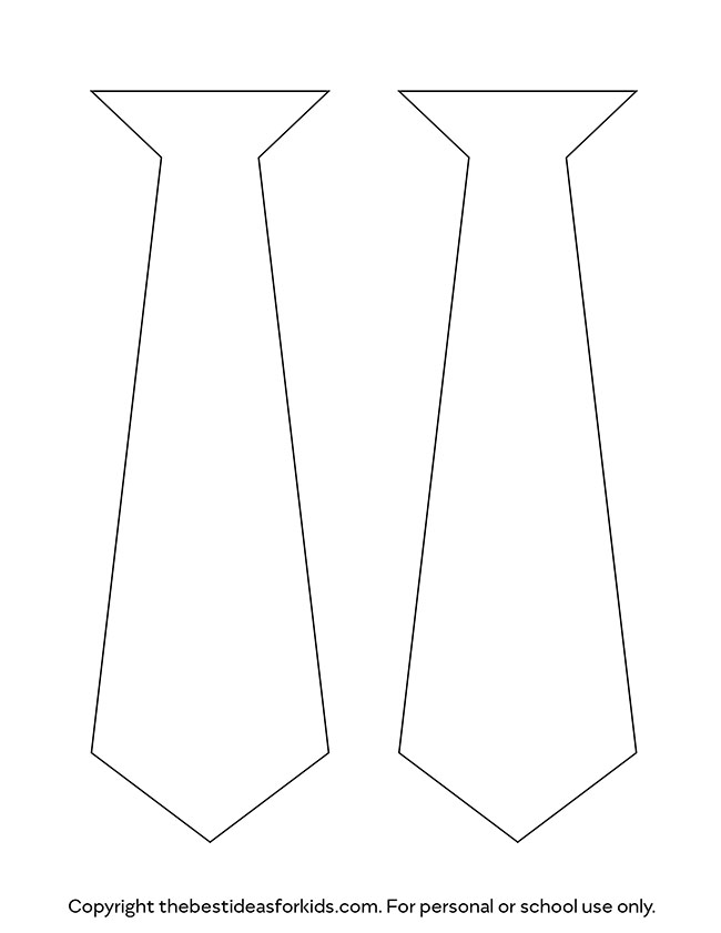 picture about Free Printable Tie Template called Tie Template - The Least complicated Options for Children