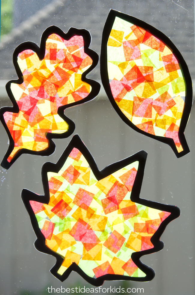 Fall Leaf Suncatchers