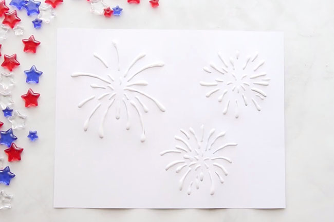 Fireworks Salt Painting Glue