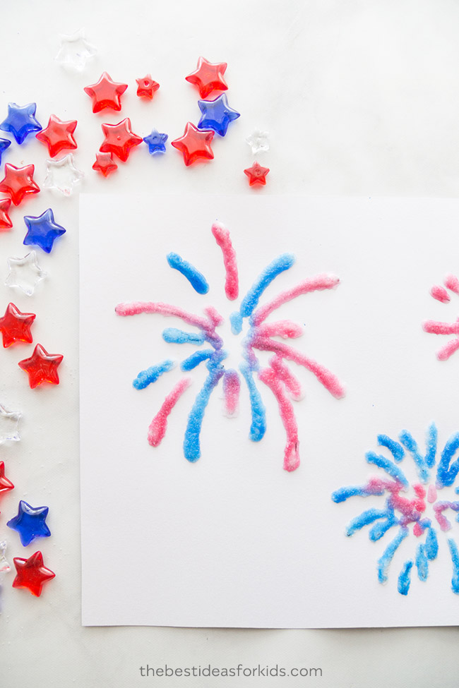 Fireworks Template Kids Craft