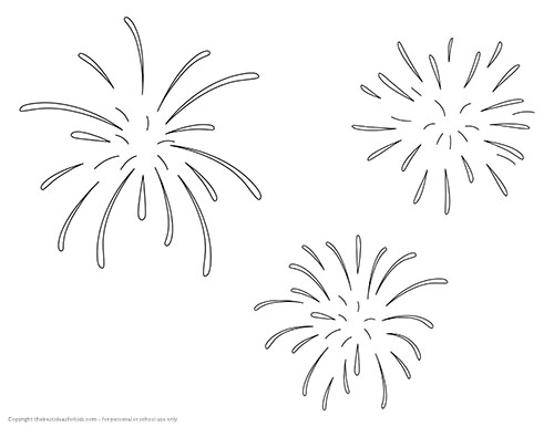 Fireworks Template Salt Painted Fireworks The Best Ideas For Kids