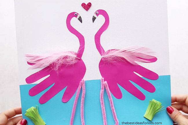 Flamingo Craft image. Follow text below on how to make the craft,