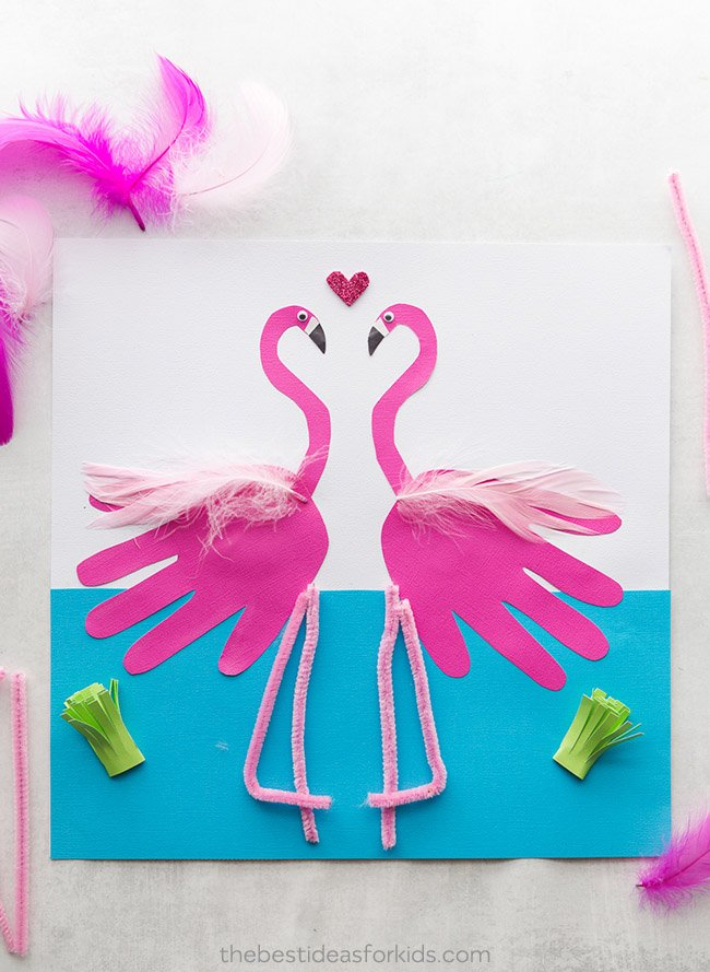 flamingo handprint the best ideas for kids. Black Bedroom Furniture Sets. Home Design Ideas