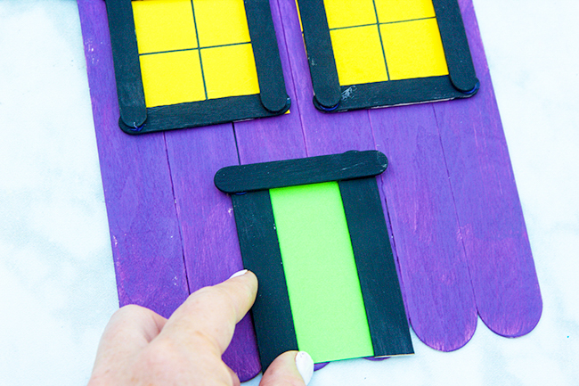 Glue on Door Popsicle Stick Haunted House
