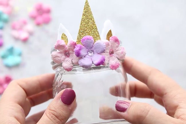 How to Make Unicorn Mason Jars