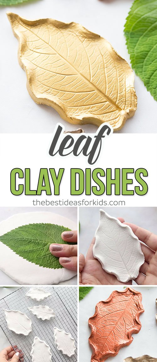 Leaf Clay Dishes Craft for Kids
