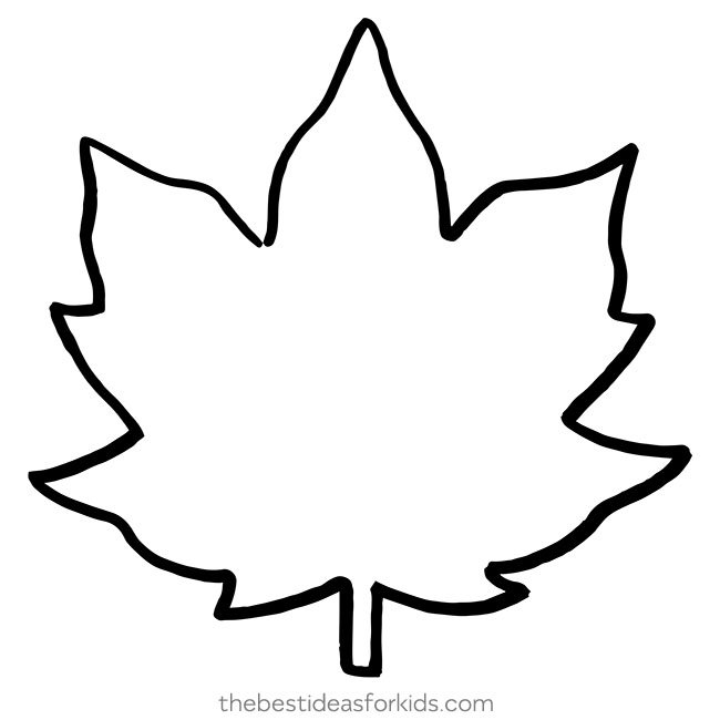 photograph regarding Leaf Stencil Printable named Leaf Template - The Excellent Suggestions for Small children