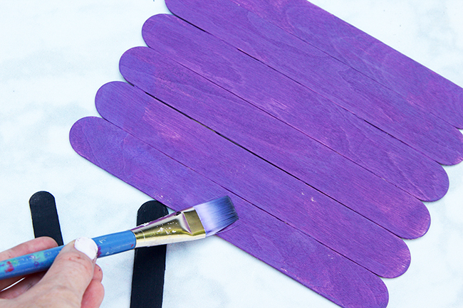 Paint Popsicle Stick Haunted House