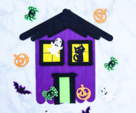 Popsicle Stick Haunted House Cover