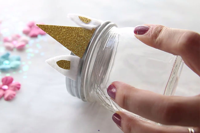 Unicorn Mason Jar DIY