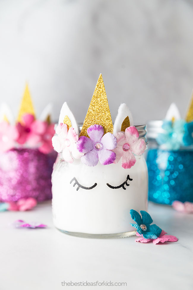 Unicorn Slime Jars