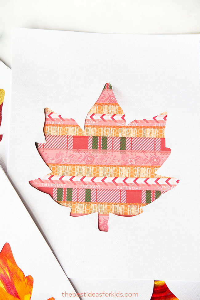 Washi Tape Leaf Art