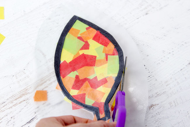 Cut Out Leaf Suncatchers