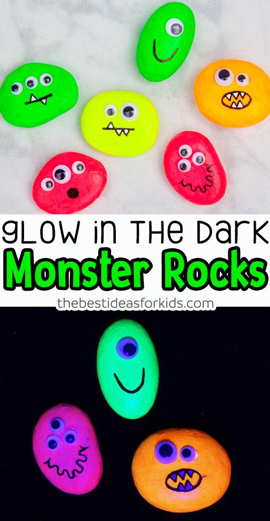 Glow in the dark Monster Rocks