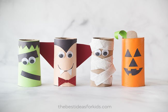 Halloween Paper Roll Crafts