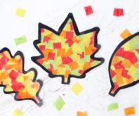Leaf Suncatchers Craft