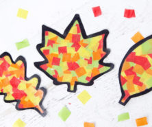 Leaf Suncatchers Craft