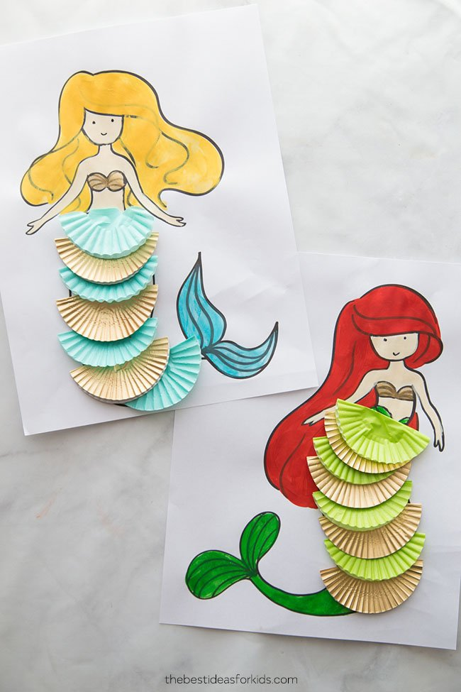 Mermaid Coloring Sheets