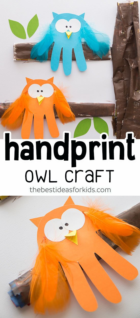 Owl Handprint Craft for Kids