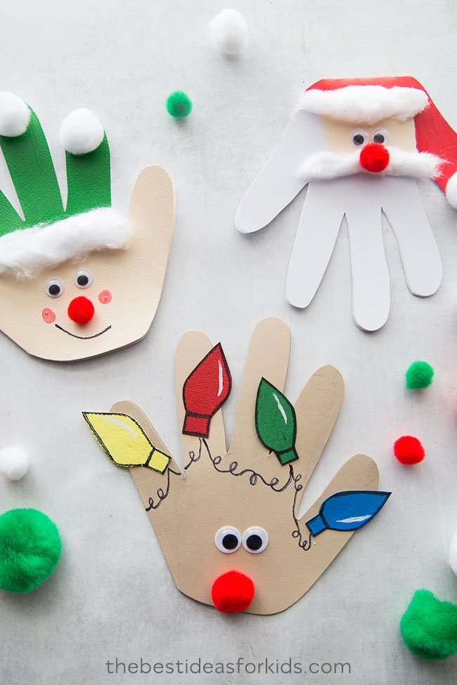Christmas Handprint Cards