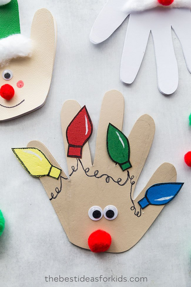 Christmas Handprint Cards - The Best Ideas for Kids