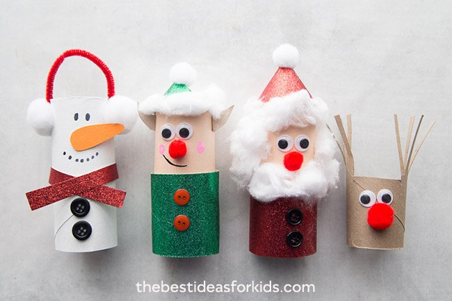 Christmas Toilet Paper Roll Crafts for Kids
