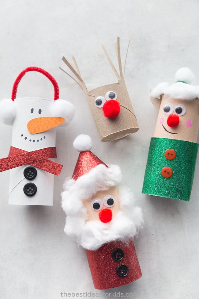 christmas toilet paper roll crafts the best ideas for kids