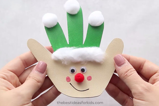 Christmas Handprint Cards The Best Ideas For Kids