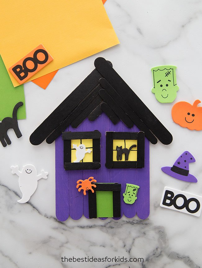 Haunted House Craft for Kids