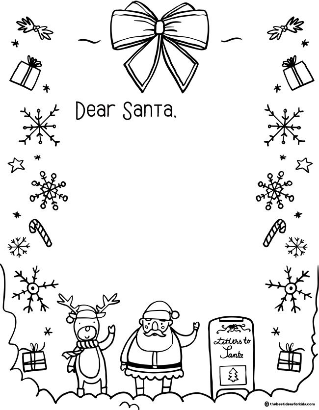 letter to santa template the best ideas for kids
