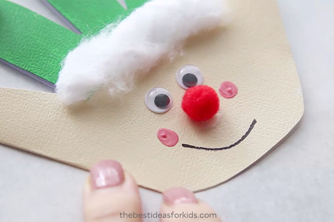 Elf Christmas Handprint Craft